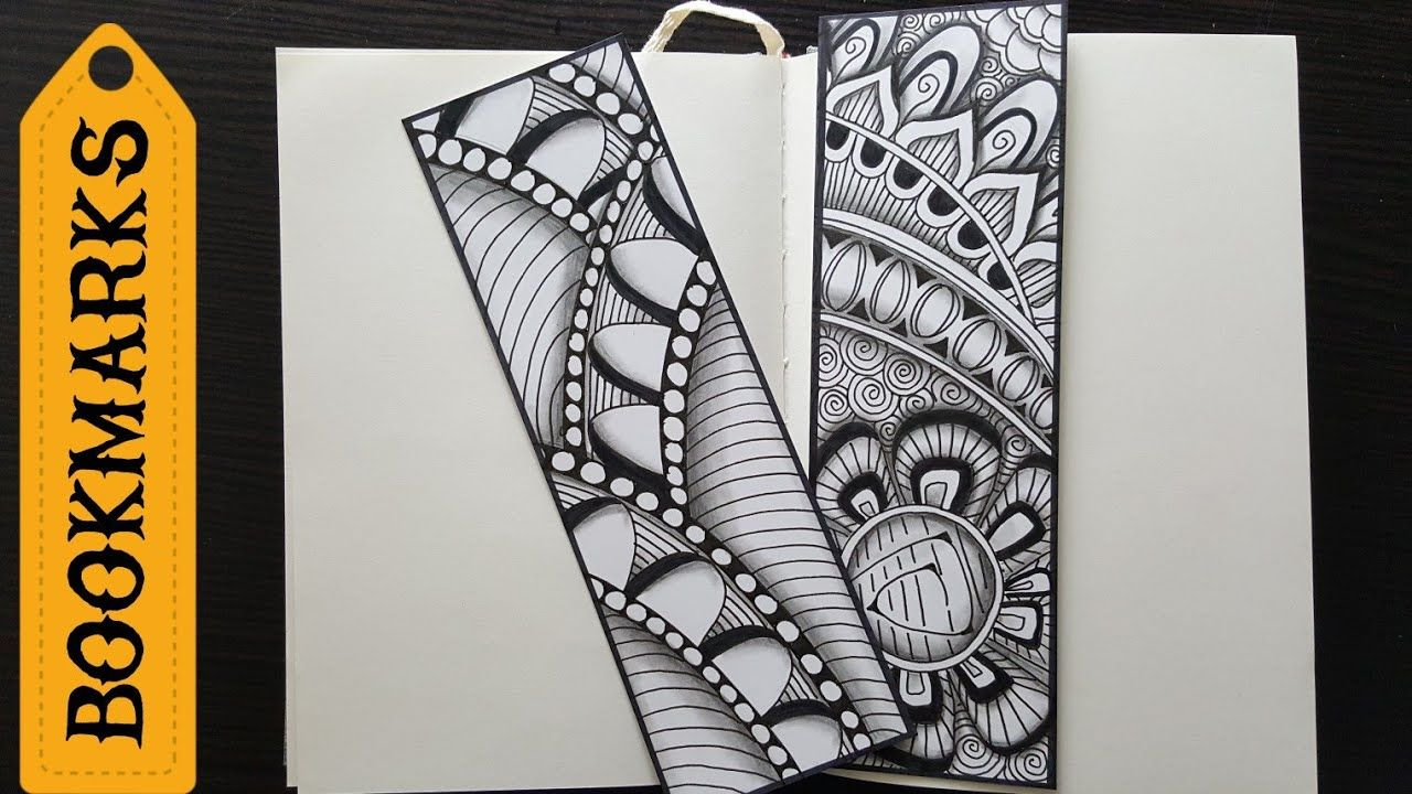 Pin By Donita Harrison On Bookmarks Unique Bookmark Mandala Book Zentangle Patterns