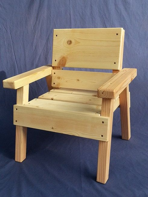 Diy Project Kids Solid Wood Chair Toddler Boy Or Girl