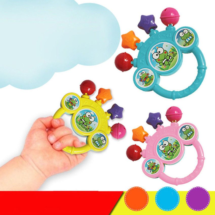 Cartoon Infant Baby Bell Rattles Newborns Toys Hand Toy For Children Music KIDS