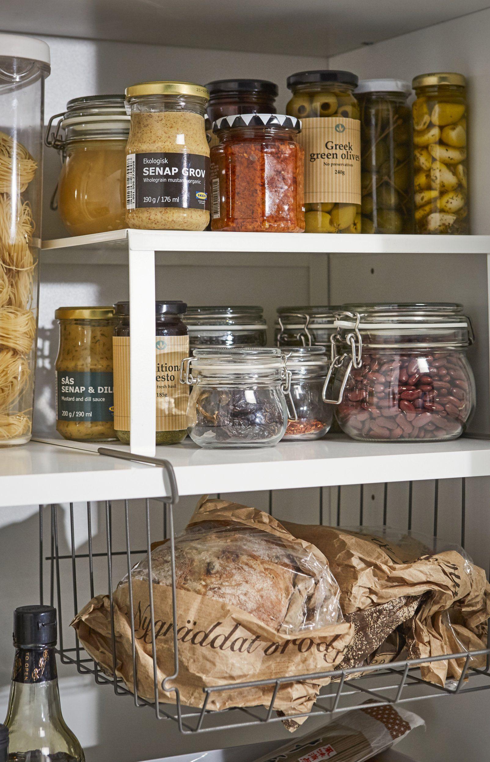 8 Idees Geniales Pour Ranger Partout Dans La Maison Ikea Garde Manger Rangement Garde Manger Rangement Placard Cuisine