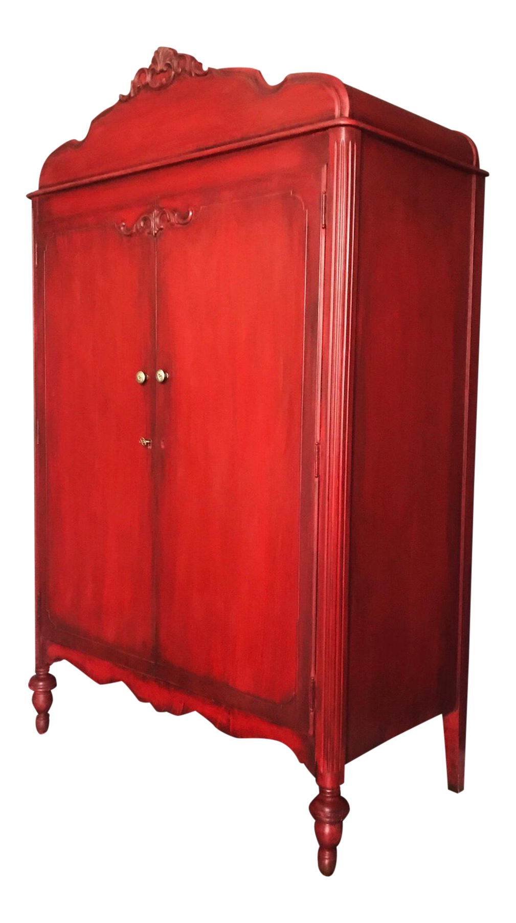 French Country Red Armoire on Chairish.com   Wardrobe ...