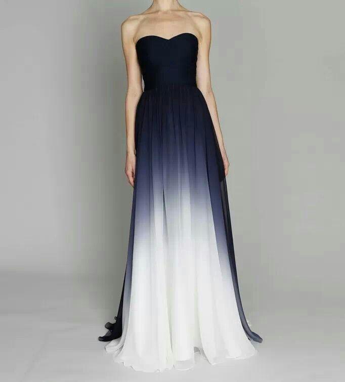 Black White Fade Dress Beautiful Dresses Pretty Dresses Fancy Dresses