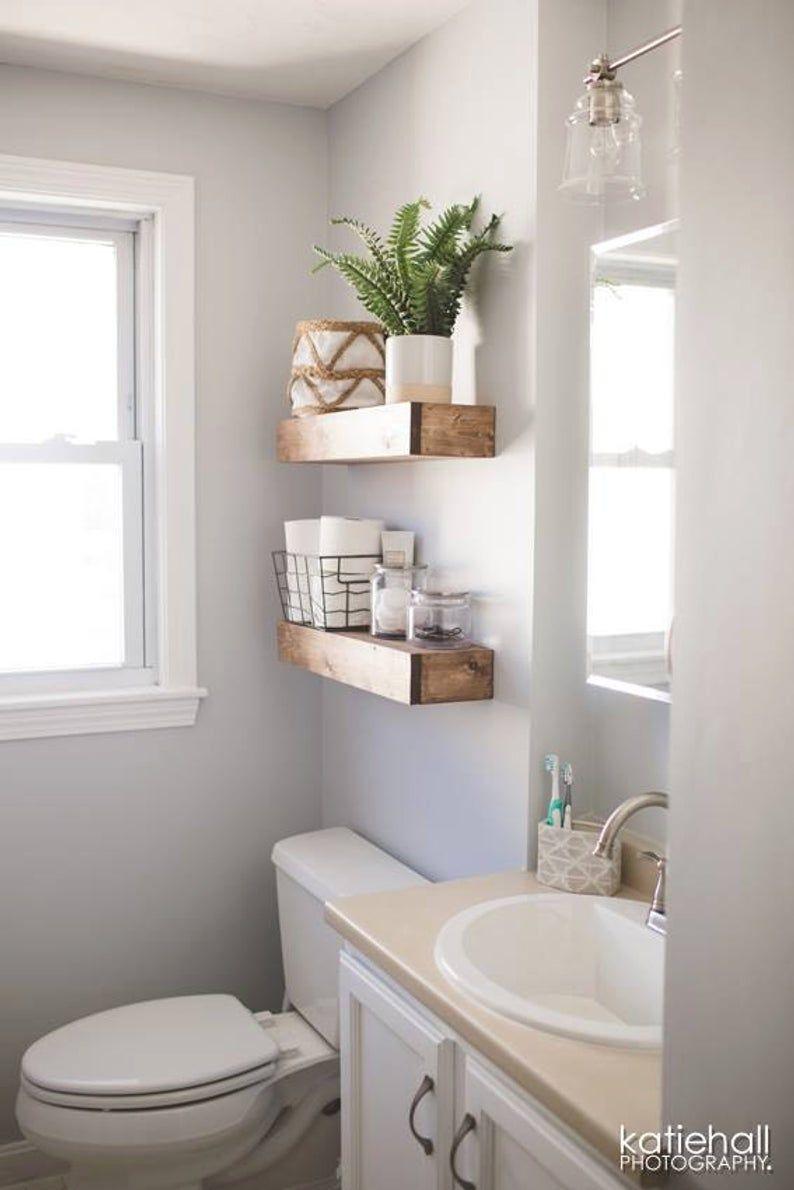 Floating Shelf Rustic Ledge, Bathroom Ledge Shelf