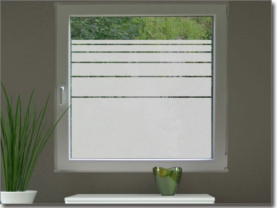 Glasdekorfolie Streifen 10 cm Pinterest - folie für badezimmerfenster