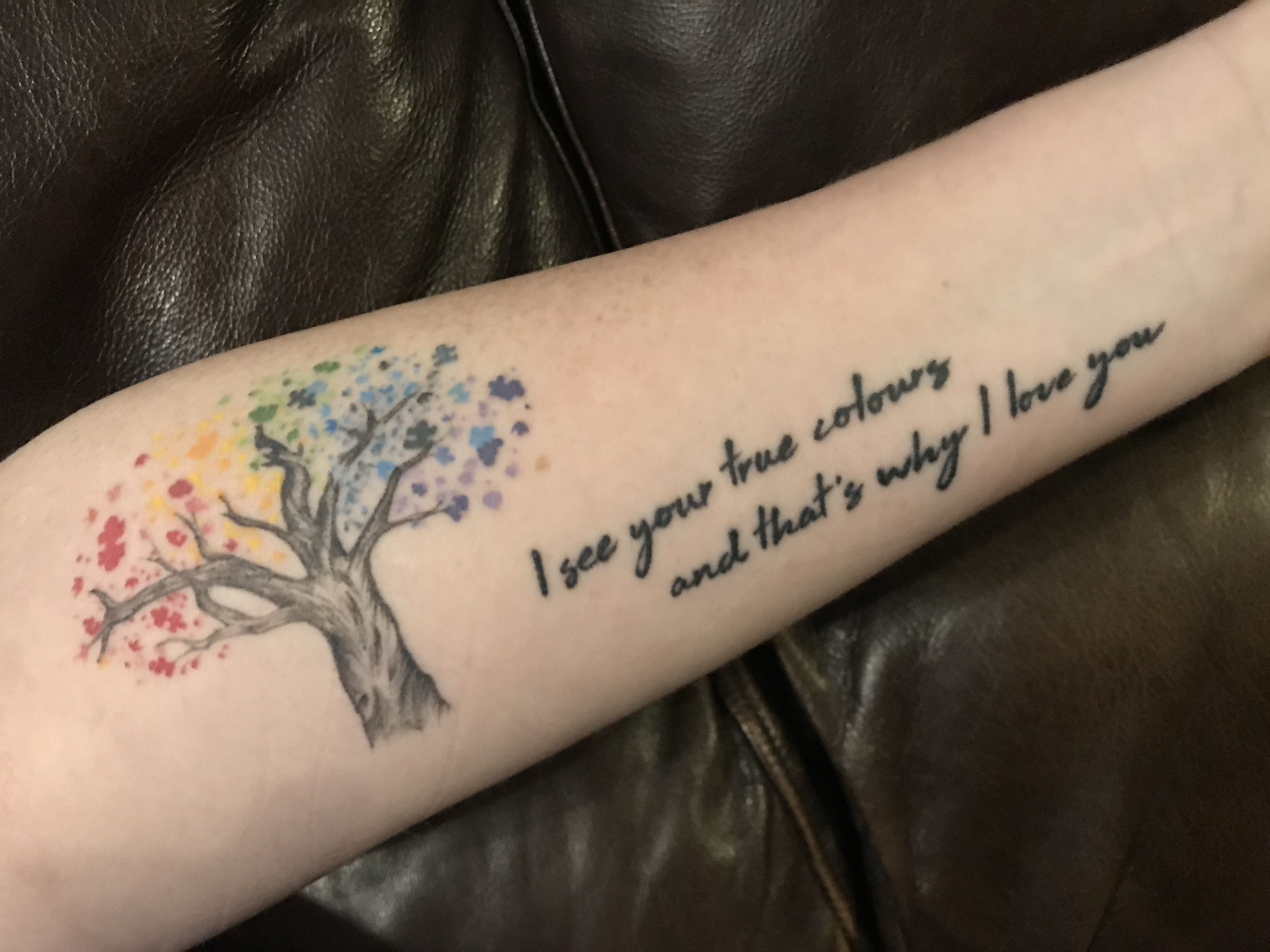 Autism Tattoo Quotes Tattoos True Colors