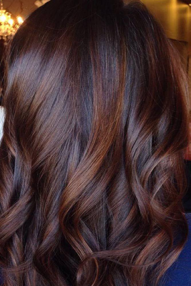 Cheveux balayage chocolat