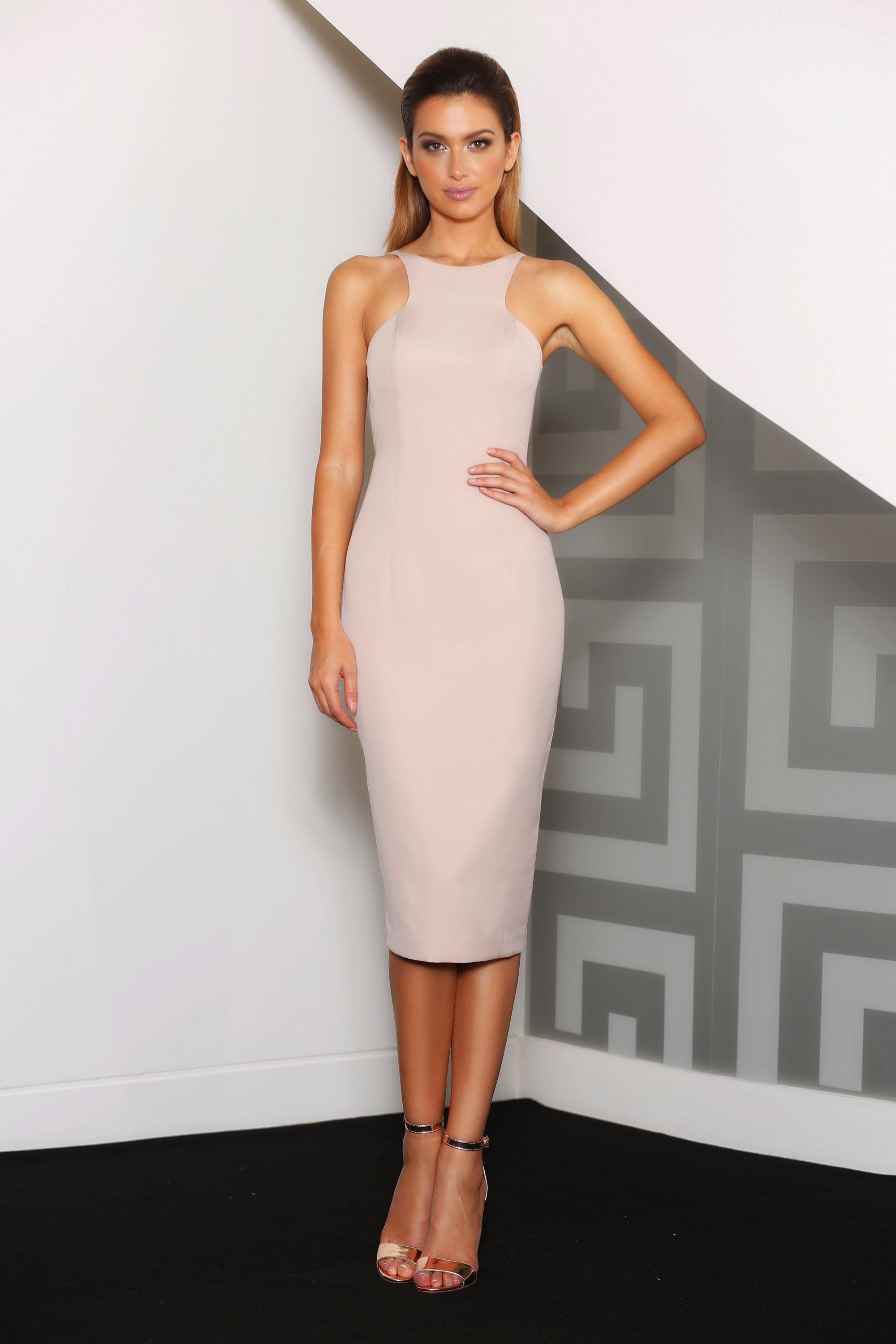 Short Fitted Cocktail Dress With A Beautiful Low Back Fabric Stretch Crepe Casual Cocktail Dress Cocktail Dress Dresses [ 3000 x 2000 Pixel ]