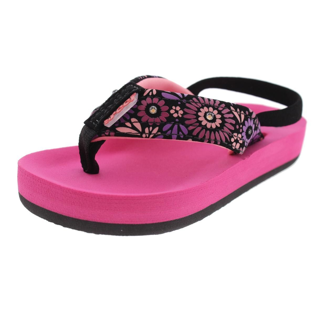887d3af3c Reef Girls Little Ahi Toddler Light Up Flip-Flops