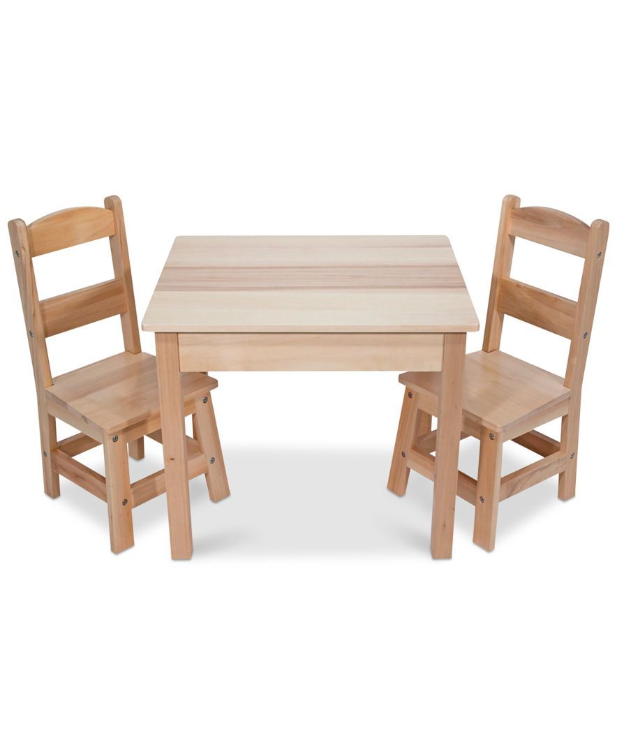 Pull one of the two durable chairs up to the child-size table--theyu0027re sized just right for kids but strong enough to hold moms and dads too!  sc 1 st  Pinterest & Wooden Table u0026 Chairs Set | Wooden tables Playrooms and Kids furniture