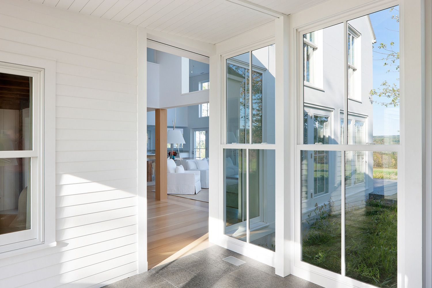 Berkshire farmhouse floor to ceiling magnum double hung for Double hung exterior french doors