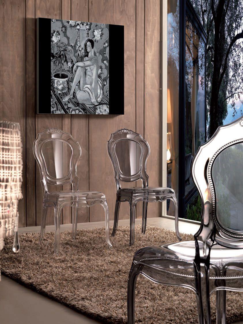Chaise De Salle Manger Design En Polycarbonate ZABO Coloris Transparent Ou Fum