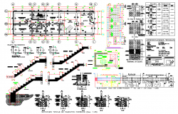 Beam and staircase section plan dwg file   block   Cad
