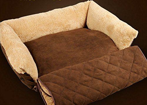 "Love U Soft Multi Function Suede Golden Retriever Samoyed Medium Large Dog Sofa Bed 30"": £27.99"