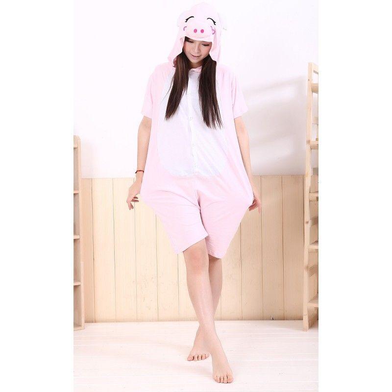 a72dc6c94 Summer Pink Pig Kigurumi Onesies Pajamas for Women   Men