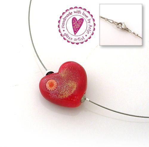 collier, tour de cou • perle SRA • cœur