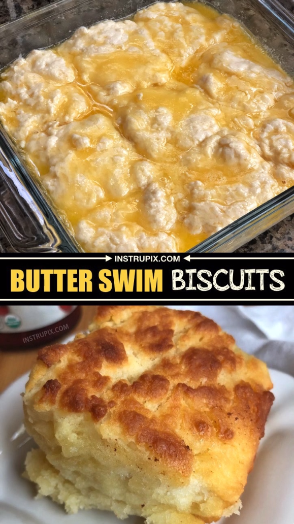 The BEST homemade biscuits! These easy homemade buttery biscuits are super quick to make with very few ingredients. The perfect dinner side dish. | Instrupix
