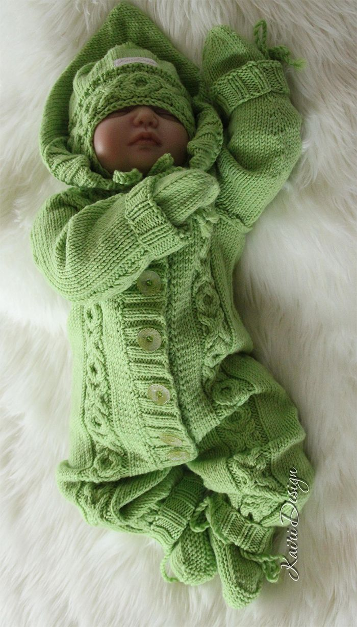 bffcff1ccd9a Knitting Pattern for Hugs and Kisses Baby Onesie - This all-in-one ...