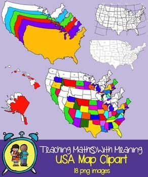 USA Maps Clip Art