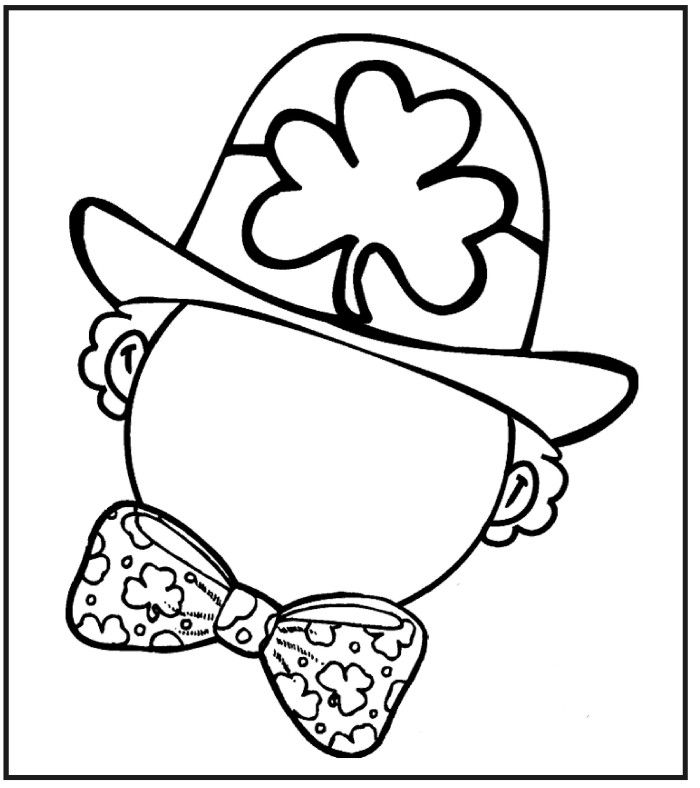Coloring Page St Patricks Day Draw Face Leprechaun
