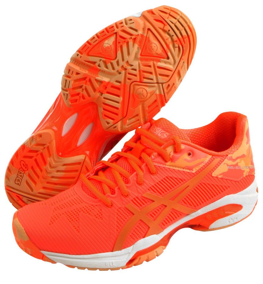 ASICS GEL Solution Speed 3 L.E. Women's Tennis Shoes Orange Racket  E853N-0630