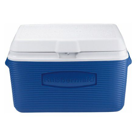 30 Quart Blue Cooler Ice Box Chest Food Storage Picnic Portable Handle Camping