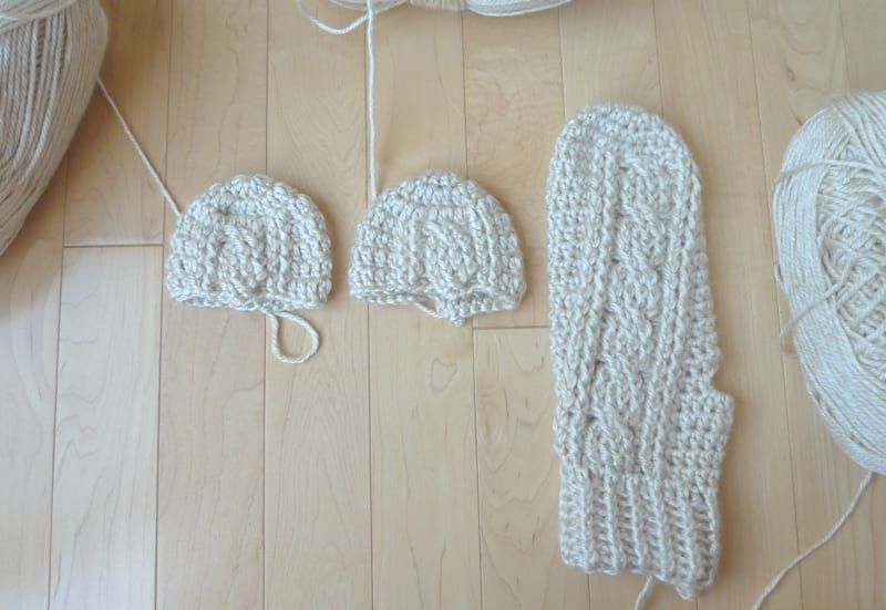 Crochet Cabled Mittens Crochet Cable Crochet Mittens Pattern Crochet
