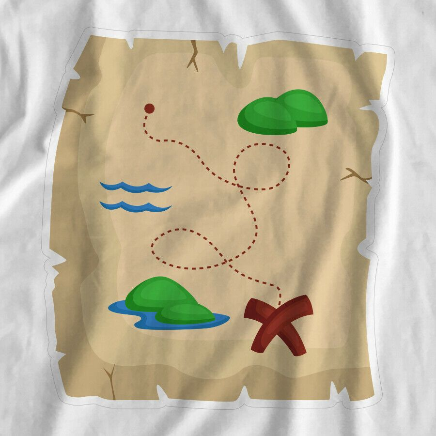 Treasure Map Pirates Iron On T-Shirt Transfer Print