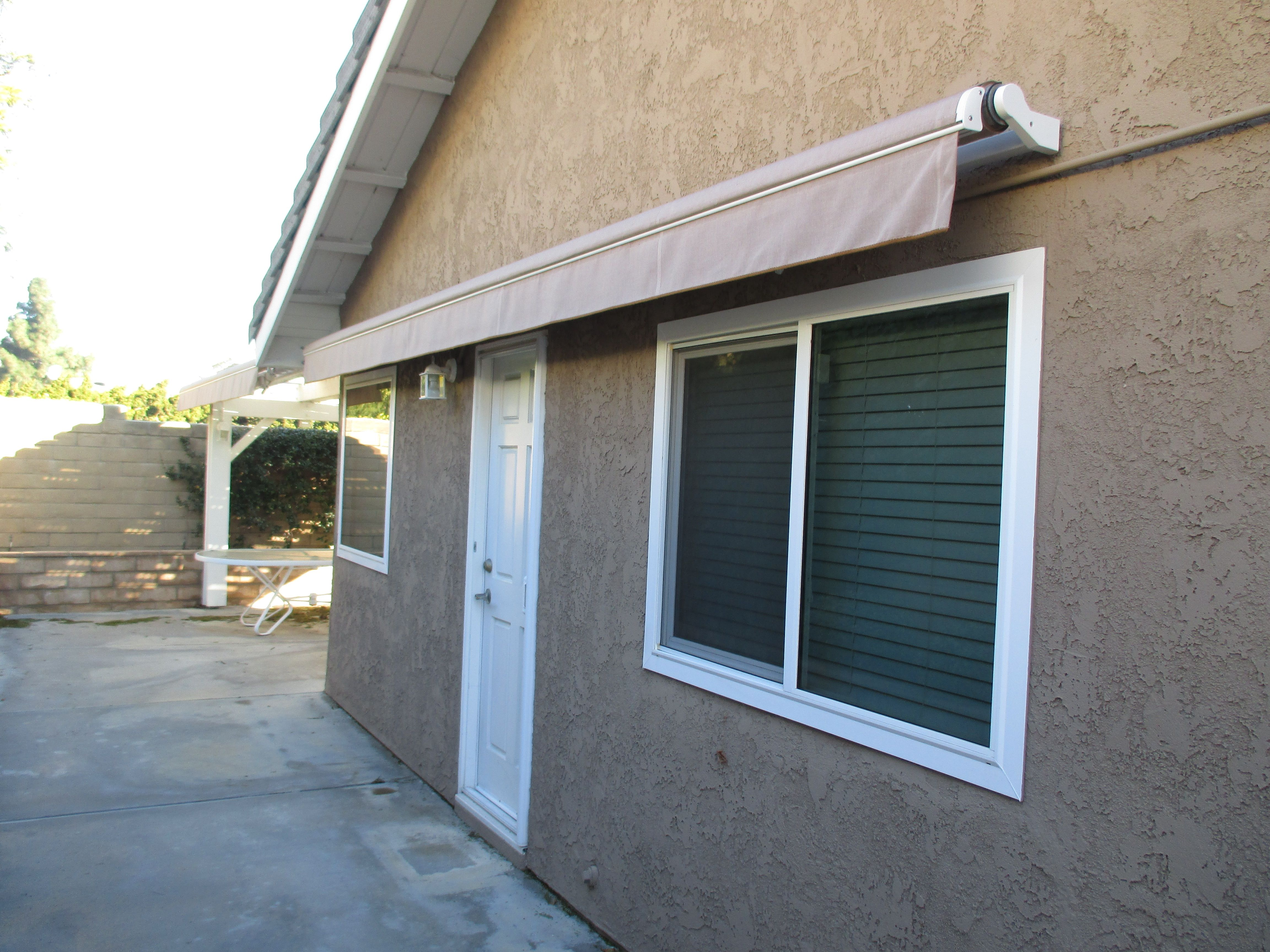 Retracted Manual Retractable Awning In Yorba Linda California - Home california retractable walls