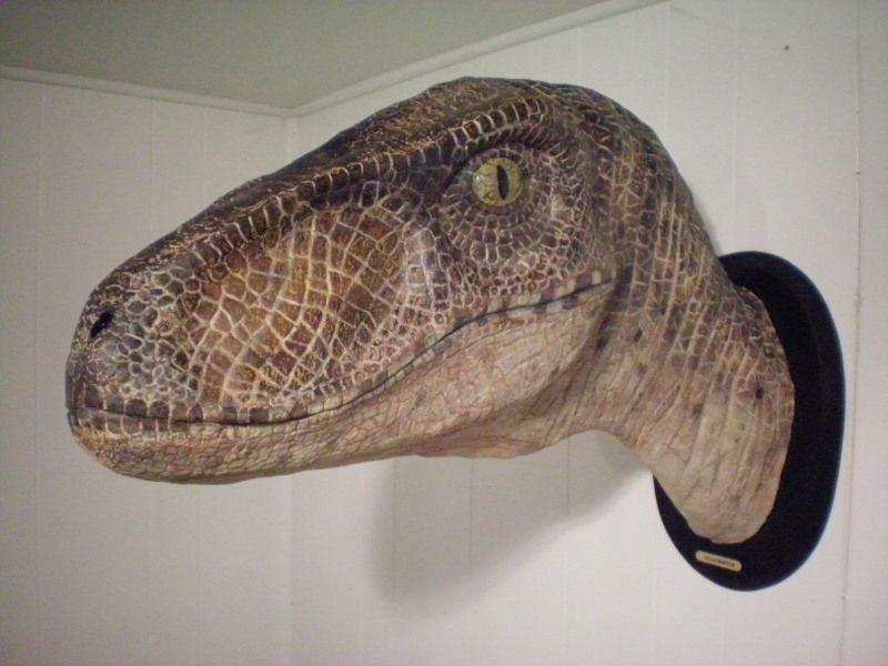 Funny Wall Mount Velociraptor head Jurassic Park