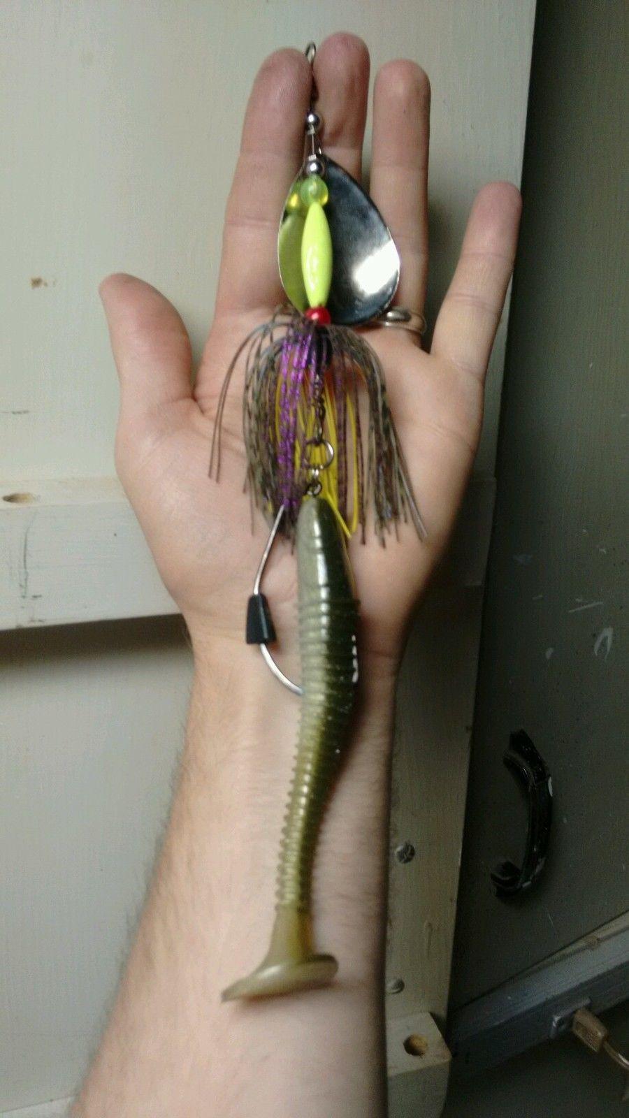 Cikade Hegene Pike and Zander Njord Kalastus Lead Head Spinner Fishing Lure Spinner Bait Set 13g Jig Spinner Perch Crankbait with Drilling Trout