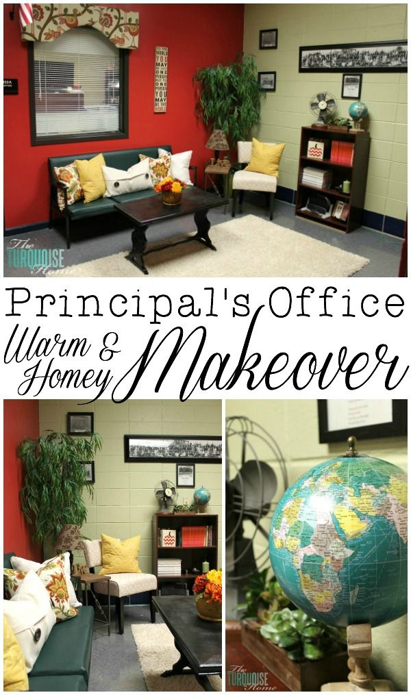 school office decorating ideas. The Principal\u0027s Office: A Warm And Homey Makeover With @HomeGoods | TheTurquoiseHome.com School Office Decorating Ideas C