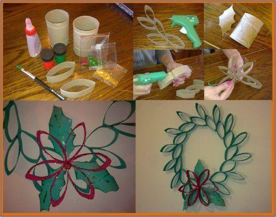Adornos de navidad con reciclaje buscar con google ideas para el hogar pinterest navidad - Adornos navidad de papel ...