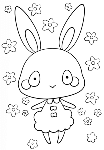 Kawaii Bunny Girl Coloring Page From Rabbits Category Select From 26690 Printable Bunny Coloring Pages Penguin Coloring Pages Precious Moments Coloring Pages