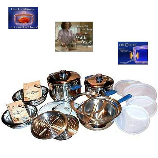 Aircore Walkaway Cookware Entire Set Cooking Temperatures Easy