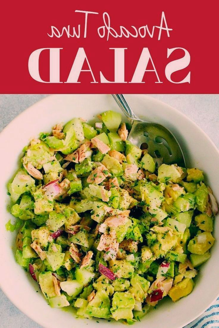 Avocado Tuna Salad Avocado Tuna Salad Recipe - healthy and delicious salad made with ripe avocados,