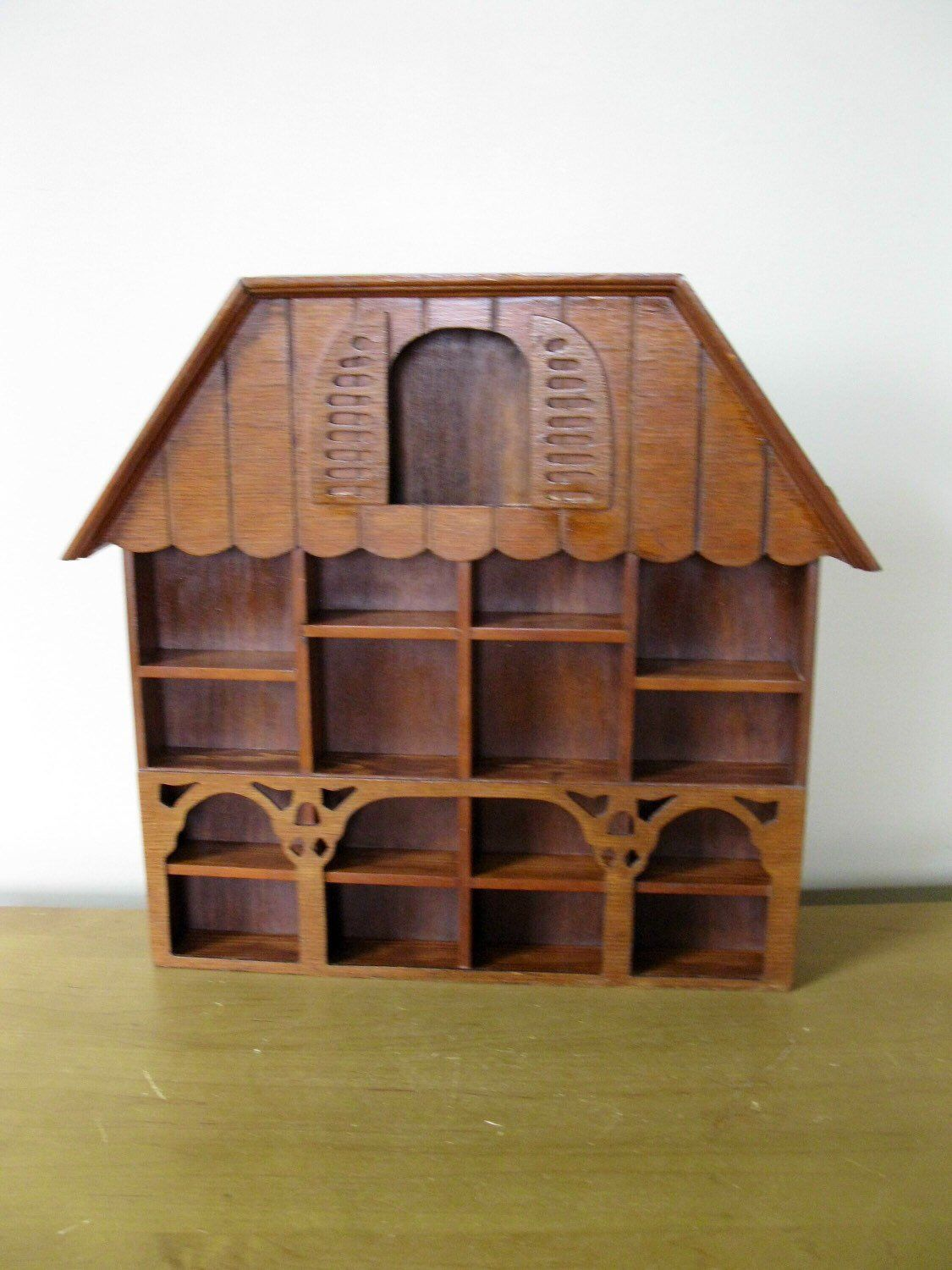 Excited To Share This Item From My Etsy Shop Wood Shadow Box 14 H X 15 Dark Stain House Shape Gabled Knick Knac Wood Shadow Box Shadow Box Dark Stains
