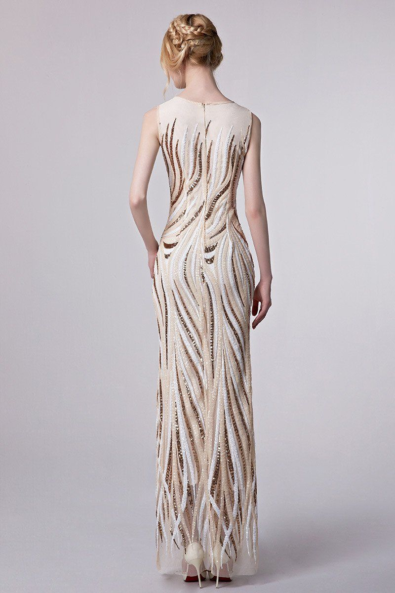 Luxury embroidery evening gowns furrple ladies formal wear