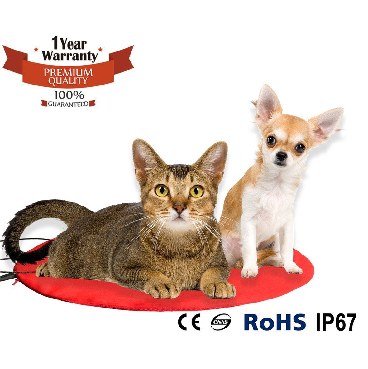 Namsan Warmer Pet Heat Mat Safety Indoor Cat Dog Pet Bed Waterproof Electric Heating Blanket With Ul Cert Adaptor Cute Cats And Dogs Dog Flea Treatment Pets