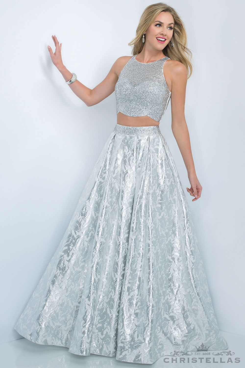 Shine like a star in this two-piece style! Blush 5508 Dress / $499 ...
