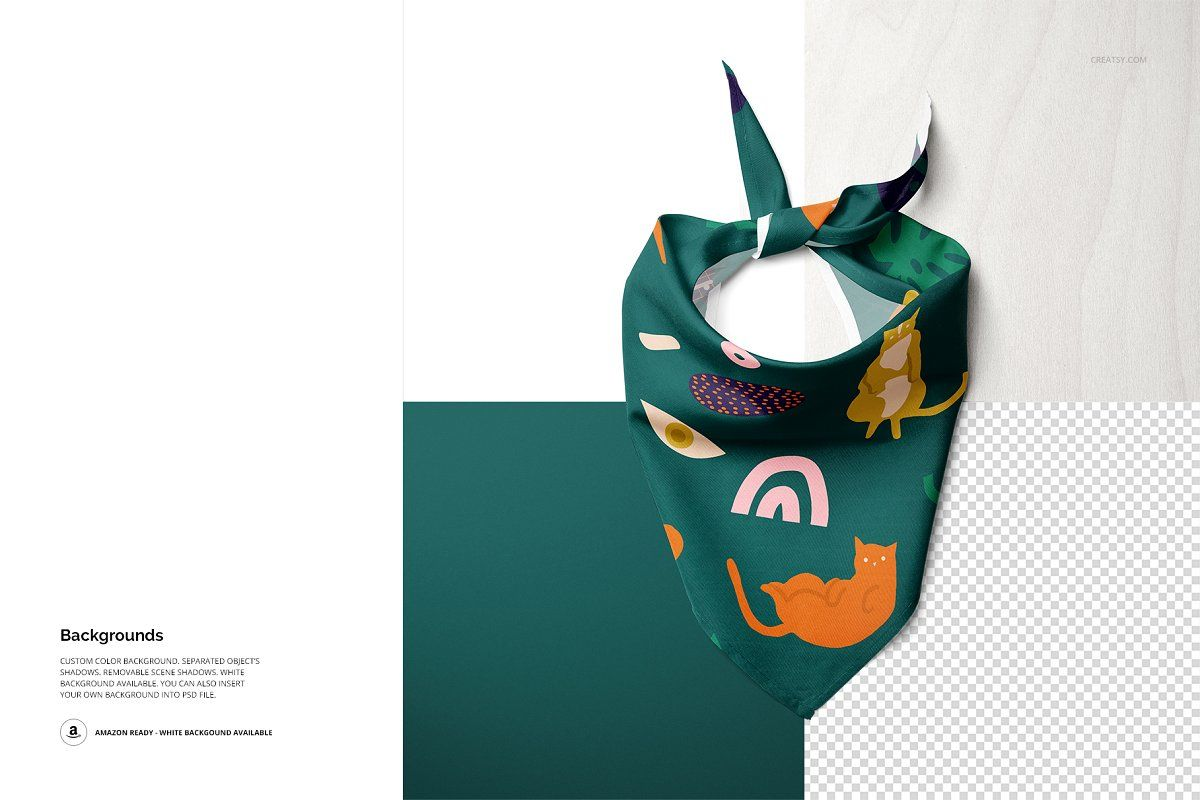 Download Pet Bandana Mockup Set Type 1 Pet Bandana Holiday Flyer Design Graphic Design Studios