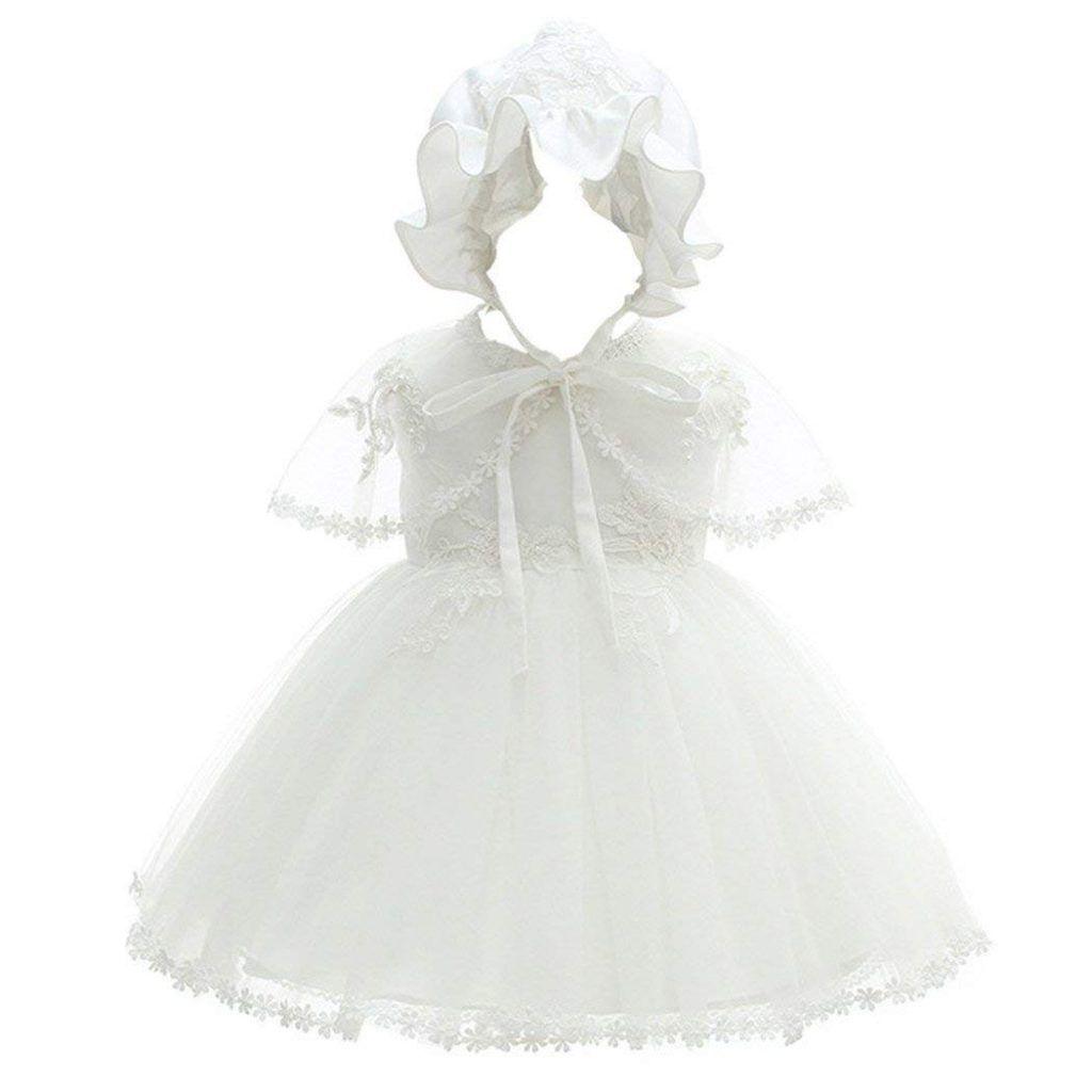 Coozy baby girl christening dress princess party wedding dress