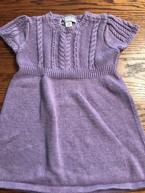 Baby Gap Toddler Girls Size 18-24 Months Heather Purple Sweater ...
