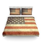 Found it at Wayfair - Flag of US Retro by Bruce Stanfield Light Cotton Duvet Cover