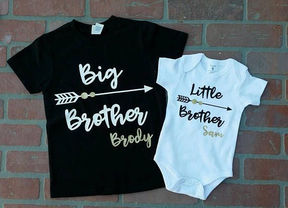0f0b8034b Personalized Big Brother/ Little Brother Shirt / Onesie set   Baby ...