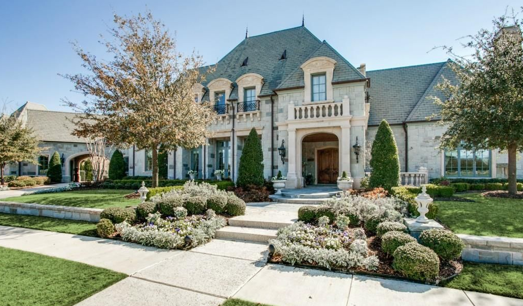 2 75 Million French Inspired Stone Home In Colleyville Tx French Country Exterior French Chateau Homes Mansions