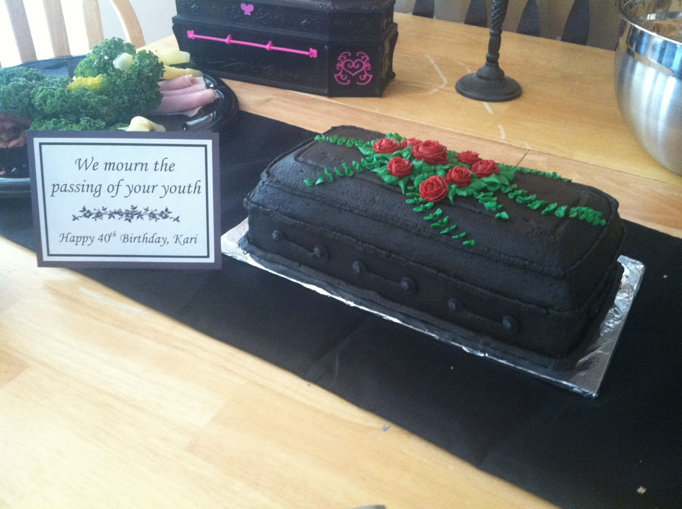 Over the Hill Coffin Cake Birthday Party Ideas Pinterest