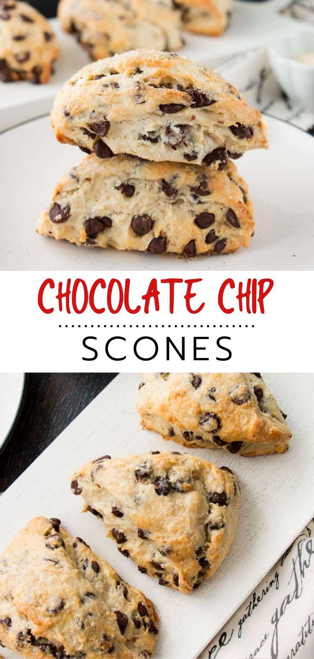 Chocolate Chip Scones - Little Sweet Baker #pumpkinpiecookies