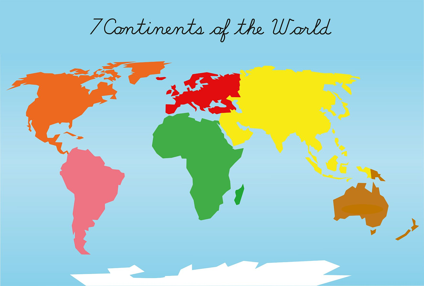 Montessori continents puzzle maps a2 a3 a4 montessori premium quality montessori printable for teachers homeschooling parents montessori puzzle maps of 7 continents of the world in 3 different sizes a2 gumiabroncs Gallery