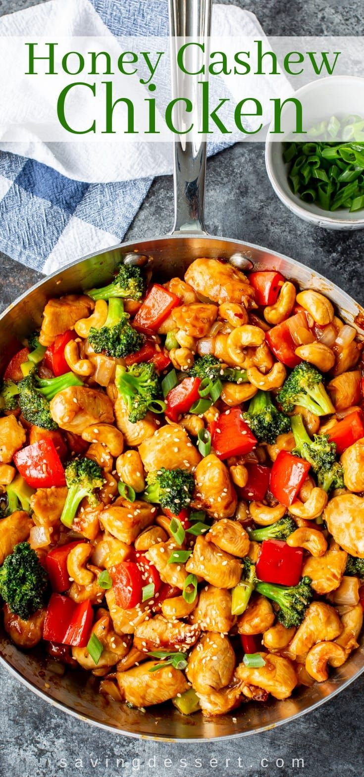 Honey Cashew Chicken - Saving Room for Dessert