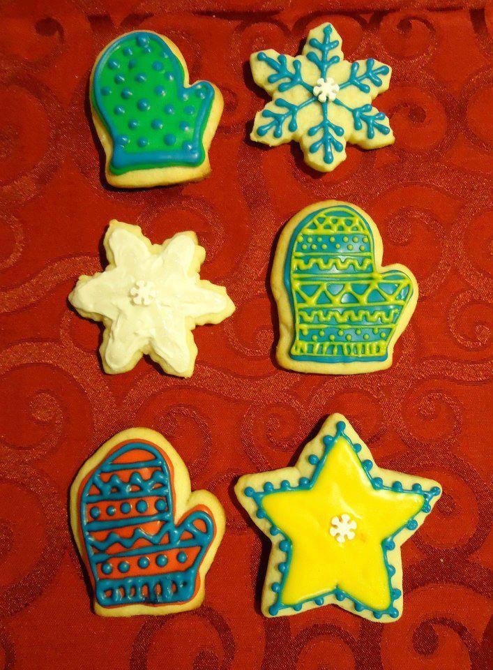 Christmas Cookies Flooded Icing Sugar Cookies Decorated Cookies